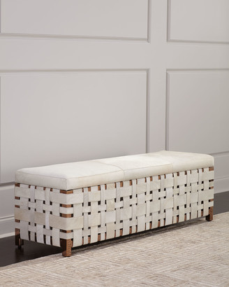 Windsor Smith For Arteriors Ellis Hair Hide Bench