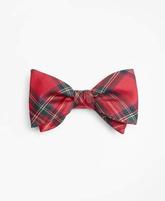 Brooks Brothers Red Stewart Tartan Bow Tie