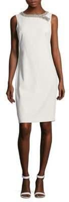 Badgley Mischka Beaded Sheath Dress