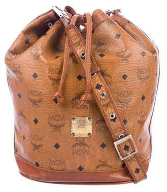 MCM Vintage Visetos Bucket Bag
