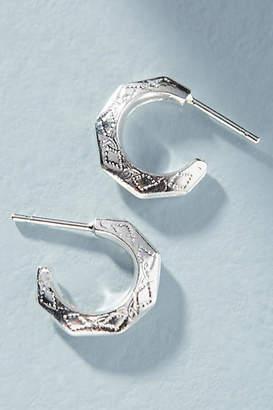 Phyllis + Rosie Hex Hugger Hoop Earrings