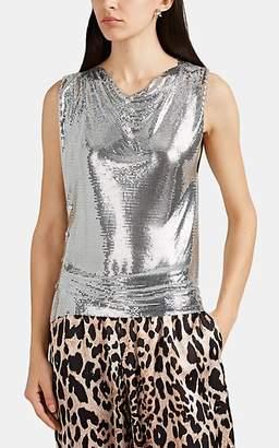 Paco Rabanne Women's Metal Mesh Sleeveless Top - Silver