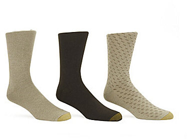 Gold Toe Extended Size Cotton Fancy Socks 3-Pack