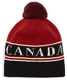 Canada Goose Men's Logo Wool Pom Beanie