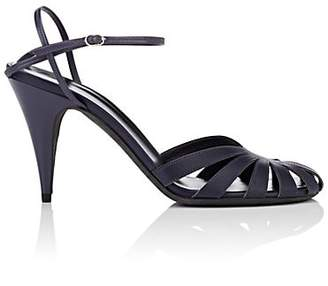 The Row Women's Tango Leather Ankle-Strap Sandals - Navy