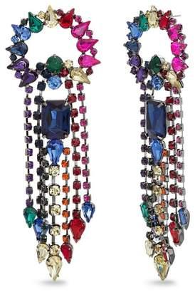2f1af6bc3b Steve Madden Rhinestone Fringe Drop Earrings