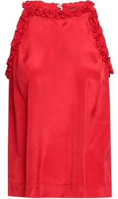 Raoul Ruffle-trimmed Crepe De Chine Top