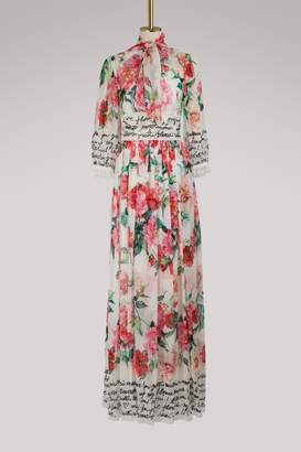 Dolce & Gabbana Roses maxi dress
