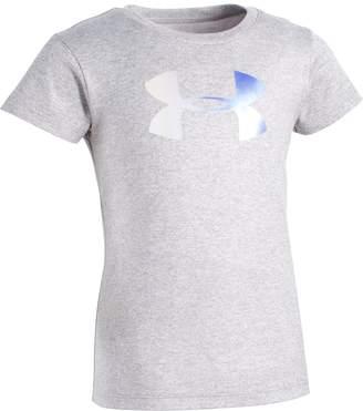 Under Armour Girls' Toddler UA Foil Big Logo Short Sleeve