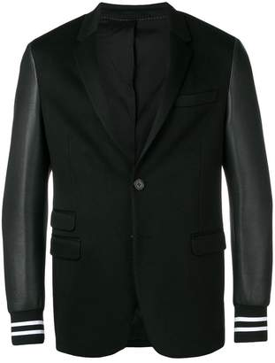 Neil Barrett contrast sleeve blazer