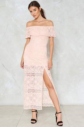 Nasty Gal Slit the Mark Lace Dress