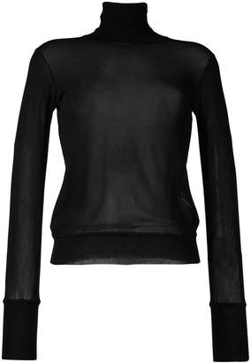 Jil Sander semi-sheer turtleneck sweater