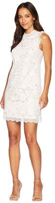 Vince Camuto Lace Shift Dress with Eyelash Lace at Neckline and Arm Women's Dress