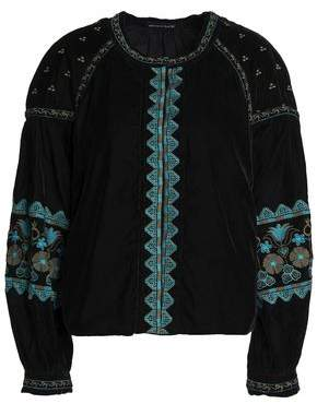 Antik Batik Embroidered Velvet Jacket