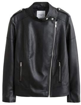 Violeta BY MANGO Asymmetric zip jacket