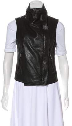 Andrew Marc Zip-Up Leather Vest