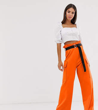 Asos Tall DESIGN Tall utility culotte with pockets and webbing belt