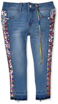DKNY Girls 4-6x) Sequin Embellished Skinny Jeans