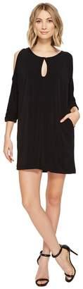 Brigitte Bailey Shayna Cold Shoulder Dress with Keyhole Women's Dress