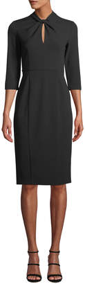 Donna Morgan Twist Front Crepe Sheath Dress