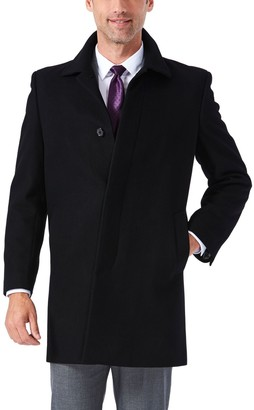 Ike Behar Big & Tall Classic-Fit Wool-Blend Top Coat
