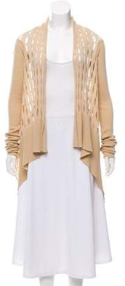 Rick Owens Long Sleeve Open Front Cardigan