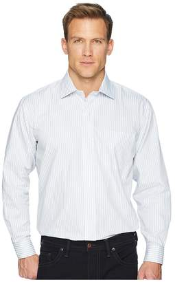 Magna Ready Long Sleeve Magnetically-Infused Stripe Dress Shirt - Spread Collar Men's Clothing