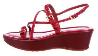 Tod's Suede Slingback Wedges