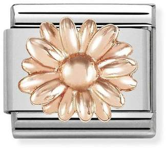4bdf4c89b4f99e Nomination Classic 9ct Rose Gold Daisy Charm