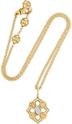 Buccellati Opera 18-karat Yellow And White Gold Diamond Necklace