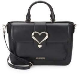 Love Moschino Heart Leather Satchel