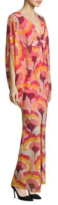 Trina Turk Blossom Stretch-Silk Caftan Gown