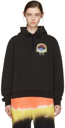 Off-White Black Hand Sphere Hoodie $555 thestylecure.com