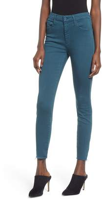 Mother The Looker High Waist Frayed Ankle Jeans