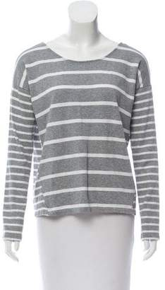 White + Warren Striped Long Sleeve Top