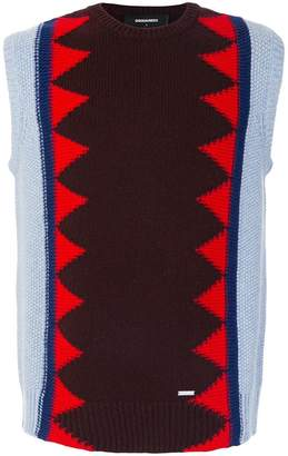 DSQUARED2 patterned knit vest