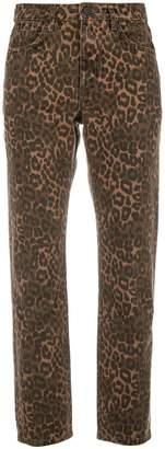 Alexander Wang leopard print cropped jeans