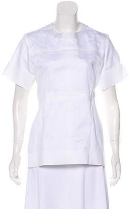 Celine Cotton Short Sleeve Blouse