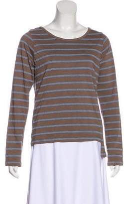 Monrow Striped Long Sleeve Top