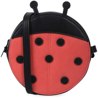 Stella McCartney Girls' Faux-Leather Ladybug Crossbody Bag