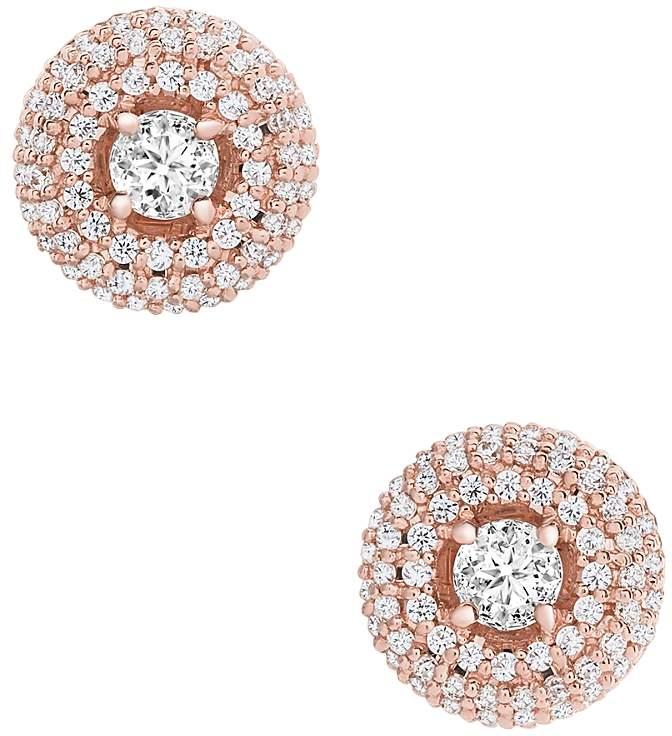 Diamond Halo Stud Earrings in 14K Rose Gold, 0.50 ct. t.w. - 100% Exclusive