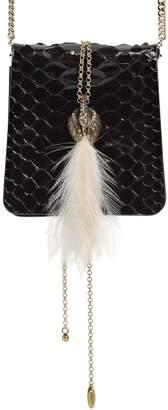 Lanvin Small Secret Python Bag W/ Feather