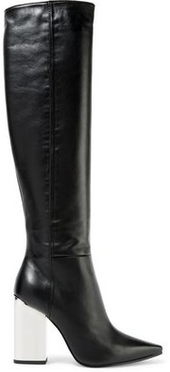 Emilio Pucci Leather Over-The-Knee Boots