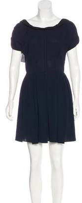 Miu Miu Pleated Mini Dress