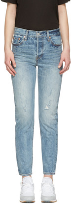 Levi's Blue Wedgie Fit Jeans $140 thestylecure.com