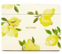 Kate Spade Lemon Recipe Box