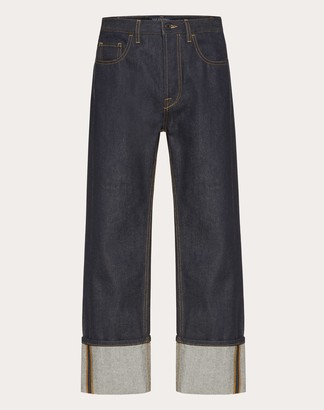 Valentino Baggy Fit Jeans Man Navy 27