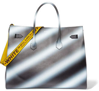 Off-White - Extra Large Printed Textured-leather Tote - Black $4,065 thestylecure.com