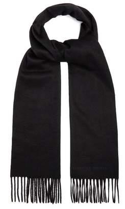 Alexander McQueen Logo Embroidered Cashmere Scarf - Mens - Black