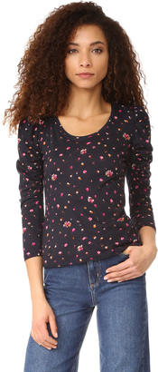 Rebecca Taylor Long Sleeve Mia Tee $225 thestylecure.com